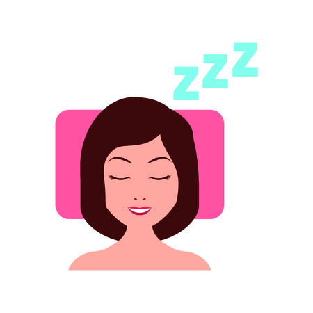 Sleeping woman avatar icon vector illustration design