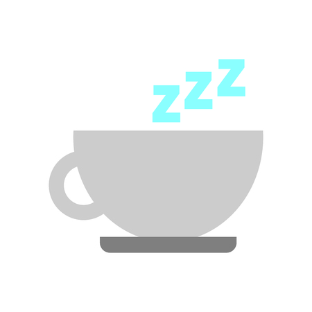tea cup with zzzz vector illustration design