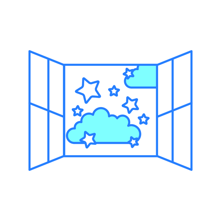 雲空のウィンドウ分離アイコン ベクトル イラスト デザイン