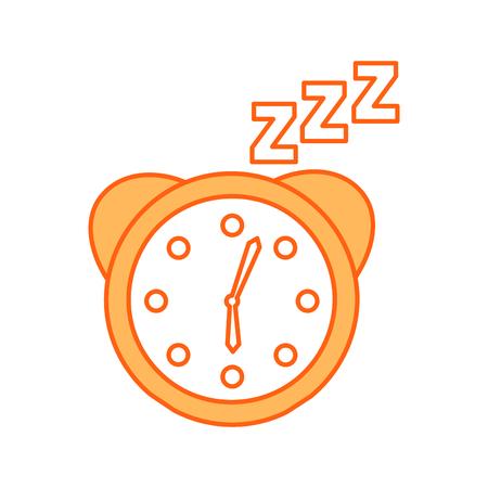 zzzz ベクトル イラスト デザインの時計アラーム