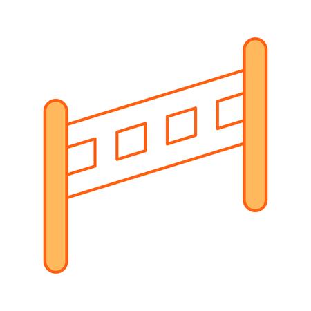 Hek geïsoleerd houten pictogram vector illustratie ontwerp Stockfoto - 82957887