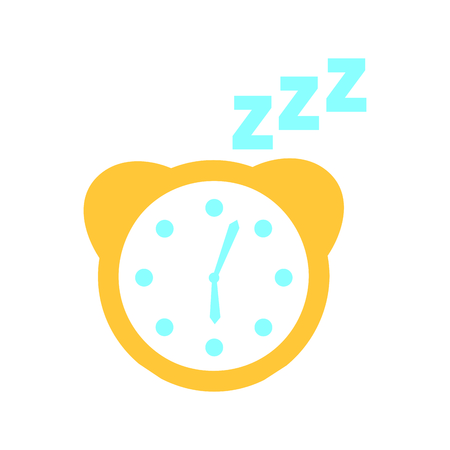 watch alarm with zzzz vector illustration design