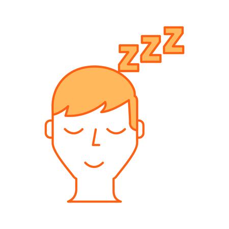 estereotipo: Sleeping hombre icono de avatar diseño de ilustración vectorial