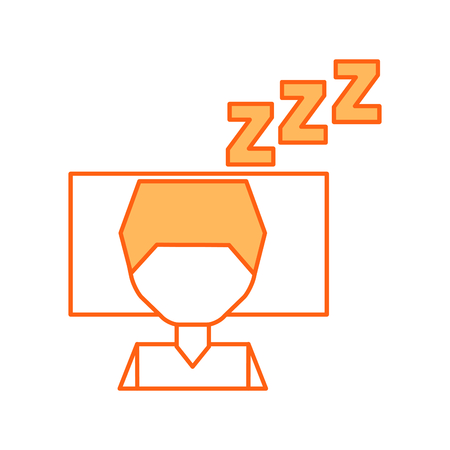 Sleeping man avatar icon vector illustration design Illustration