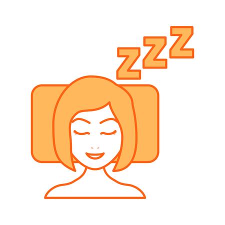 Sleeping woman avatar icon vector illustration design