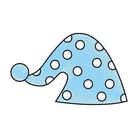 귀여운 수면 모자 아이콘 벡터 일러스트 디자인