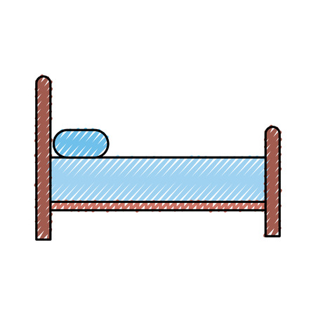 bed silhouette isolated icon vector illustration design 版權商用圖片 - 82960573