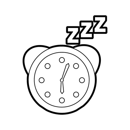 zzzz 벡터 일러스트 레이션 디자인으로 알람 시계