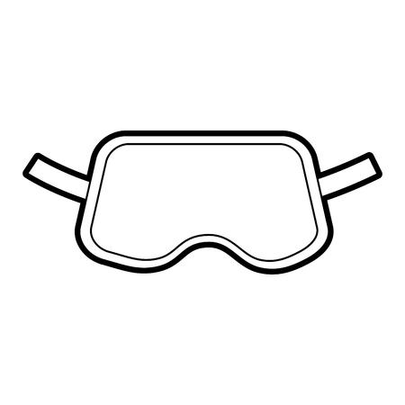 Cover sleeping eyes icon vector illustration design Illustration