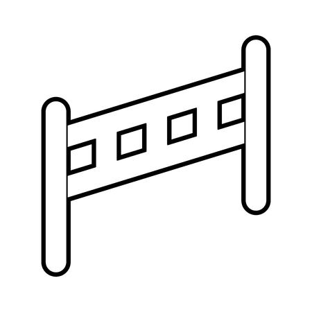 hek geïsoleerd houten pictogram vector illustratie ontwerp