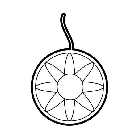Boho estilo sueño catcher ilustración vectorial diseño Foto de archivo - 82960838