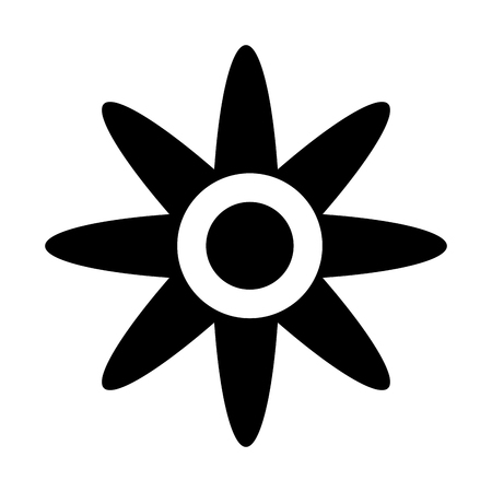 fleur silhouette icône isolé illustration vectorielle conception