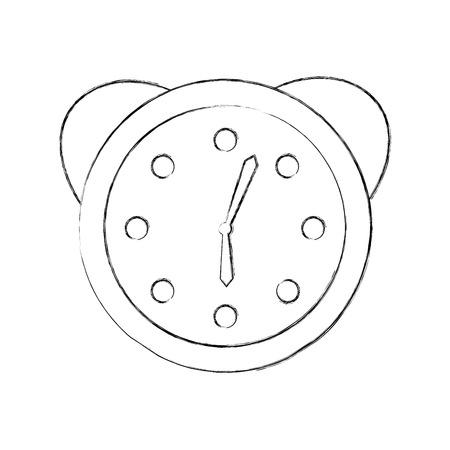Guardi la progettazione dell'illustrazione di vettore dell'icona della sveglia Archivio Fotografico - 82961372