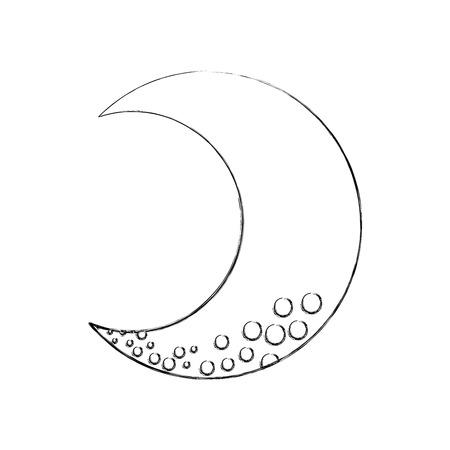 Luna carina isolato icona illustrazione vettoriale di progettazione Archivio Fotografico - 82961385