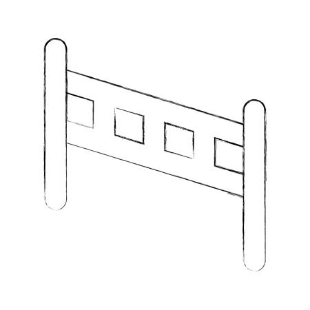 울타리 나무 고립 된 아이콘 벡터 일러스트 디자인