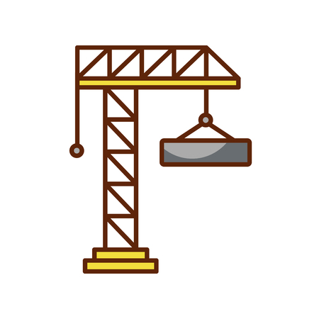 Construction de grue isolé icône illustration d'illustration vectorielle Banque d'images - 83021130