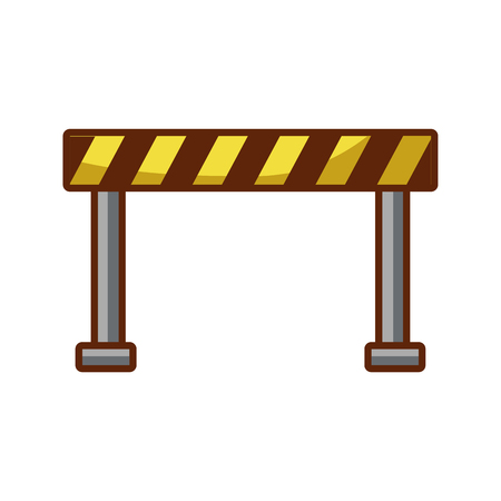 traffic fence isolated icon vector illustration design
