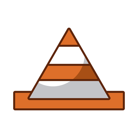 cone construction isolated icon vector illustration design