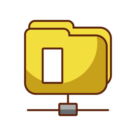 folder document isolated icon vector illustration design Ilustração