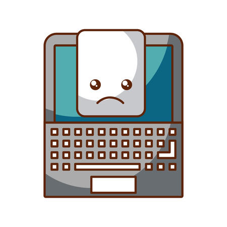 touchpad: laptop computer with document vector illustration design Illustration