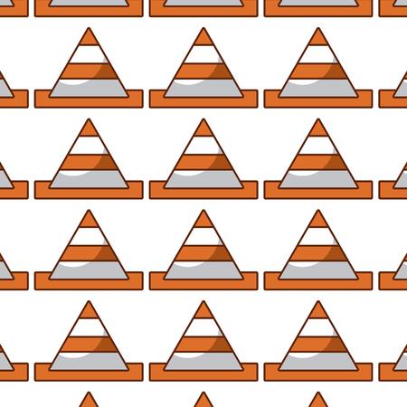 kegel constructie patroon achtergrond vectorillustratie ontwerp