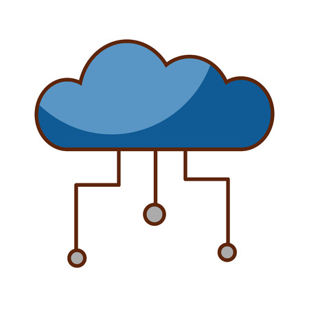 클라우드 컴퓨팅 격리 아이콘 벡터 일러스트 디자인