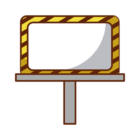 construction banner board icon vector illustration design