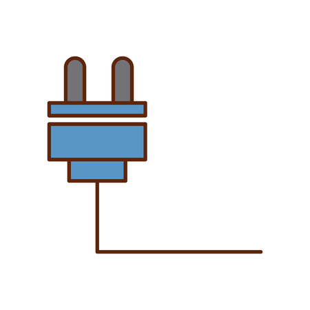 wire cable connector icon vector illustration design