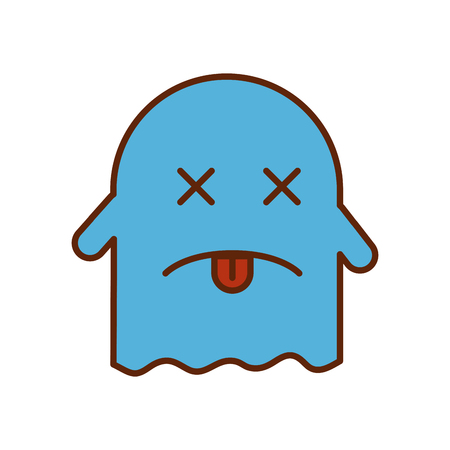 ghost kawaii character icon vector illustration design