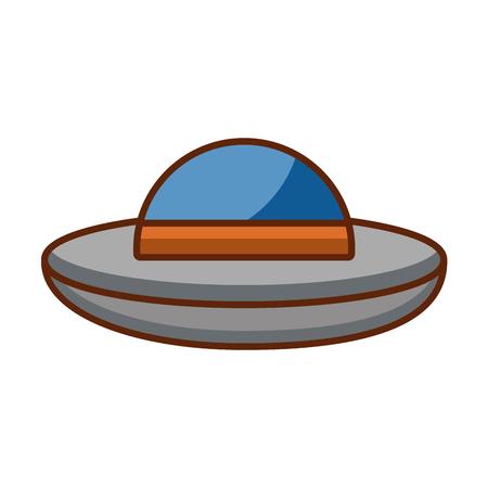 ufo vliegen geïsoleerd pictogram vector illustratieontwerp