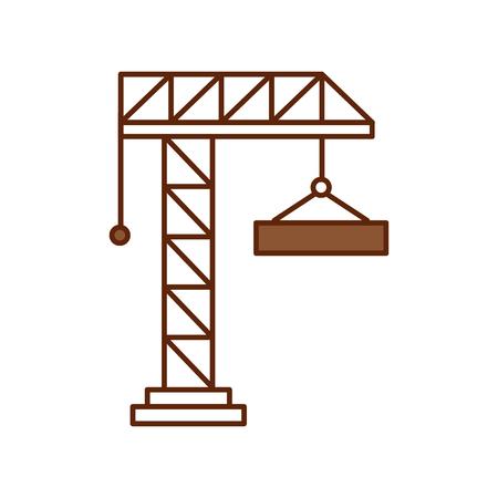 Grue de grue isolé icône du design illustration vectorielle Banque d'images - 82984456