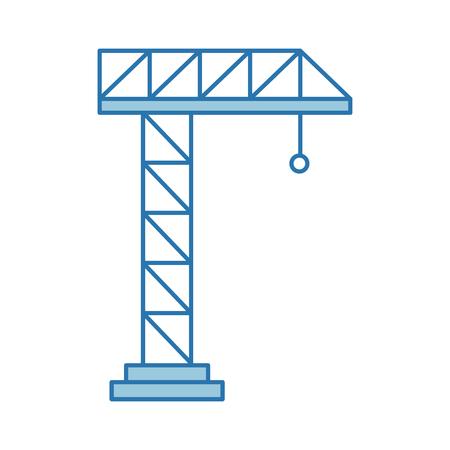 Grue de grue isolé icône du design illustration vectorielle Banque d'images - 82984492