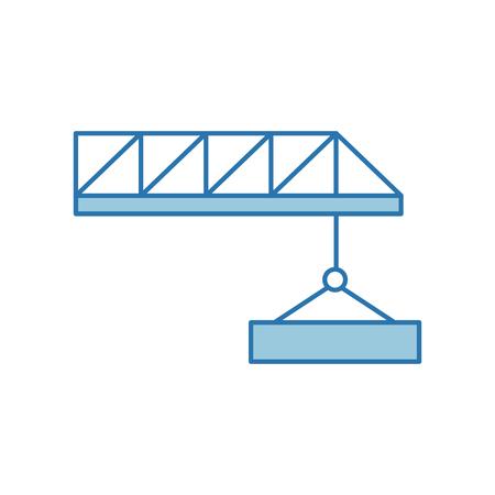 Construction de grue isolé icône illustration d'illustration vectorielle Banque d'images - 82984493