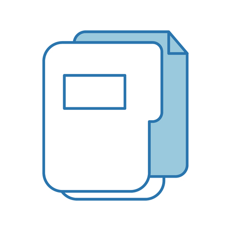 folder document isolated icon vector illustration design 向量圖像