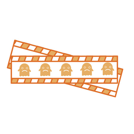tape measure with ghost vector illustration design Illustration