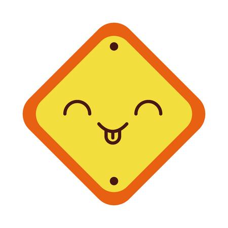 traffic signal kawaii character vector illustration design Ilustração