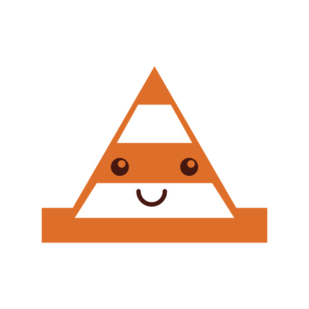 cone construction character vector illustration design