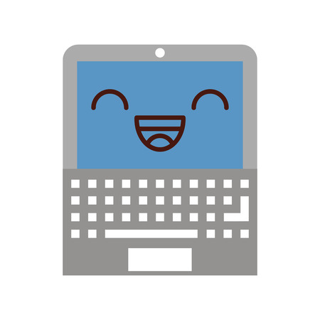 touchpad: laptop computer character vector illustration design
