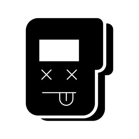 folder document  character vector illustration design