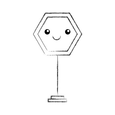 traffic signal character vector illustration design