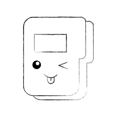 folder document character vector illustration design Ilustração