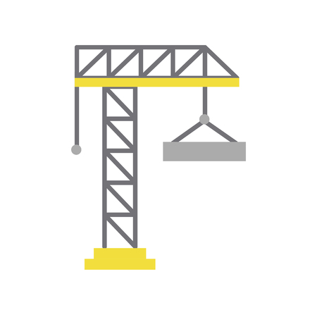 crane construction isolated icon vector illustration design