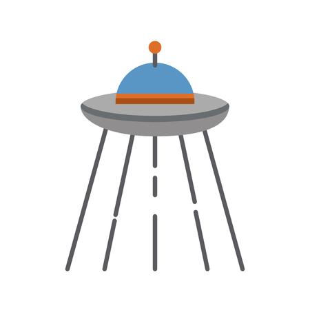 Ufo vliegen geïsoleerd pictogram vector illustratieontwerp Stockfoto - 83039965