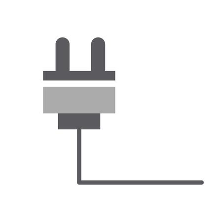ワイヤー ケーブル コネクタ アイコン ベクトル イラスト デザイン