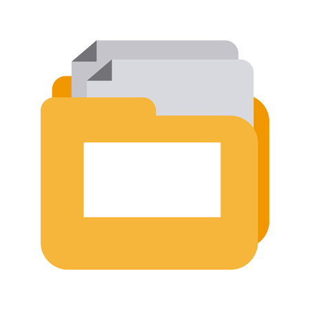 folder document isolated icon vector illustration design Illustration