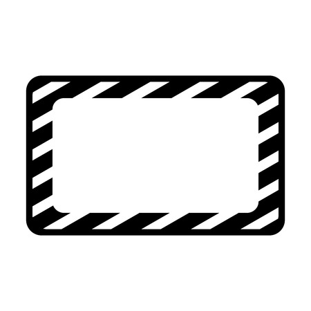 construction banner board icon vector illustration design