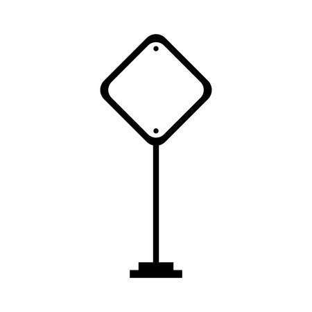 Traffic signal isolated icon vector outline illustration design