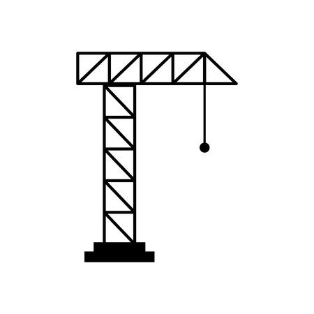 Grue de grue isolé icône du design illustration vectorielle Banque d'images - 83039990