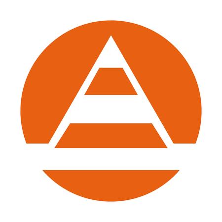 Vector de illustratieontwerp van het kegelbouw teken geïsoleerd pictogram Stockfoto - 83025703