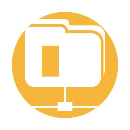 Folder document storage isolated icon vector illustration design Illustration